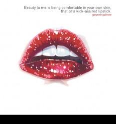 Glitter Lips Card