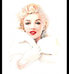 Marilyn in White Mink