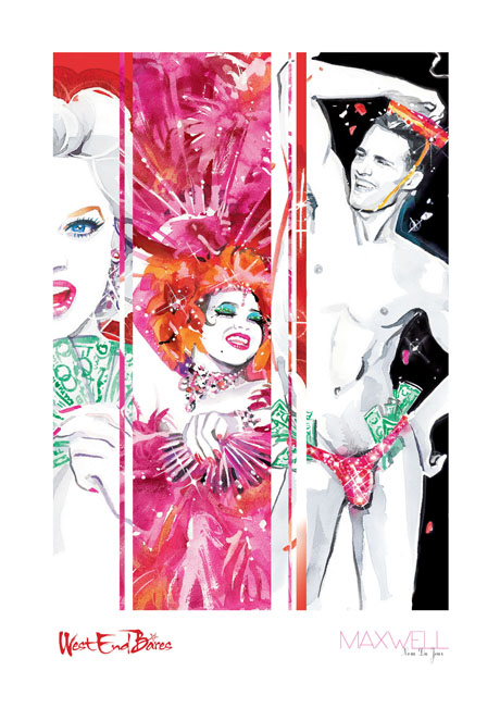 West End Bares Print By Maxwell